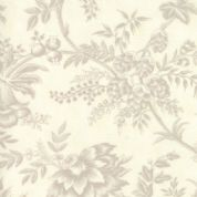 W108122 Extra Wide Cotton Fabric - Moda Snowberry by 3 Sisters - Beige on Cream